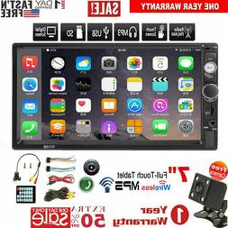 """2 DIN 7"""" Inch HD 1080P Car MP5 FM Player Touch Screen Stereo"""