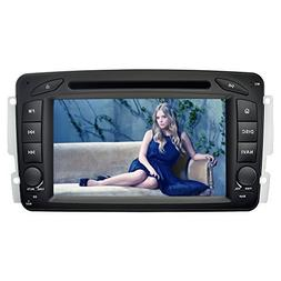 YINUO 7 Inch Car Stereo 2 Din Touch Screen DVD Player Sat Na