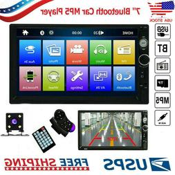 2DIN 7inch HD MP5 Player Bluetooth Car Stereo Radio Touch Sc