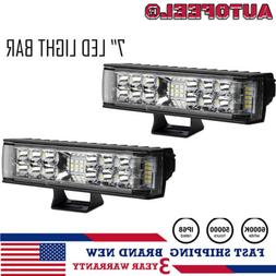 2x 7inch 816w led work light bar