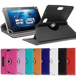 360¡ Folio Leather Case Cover For Universal Android Tablet