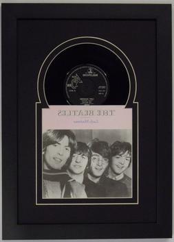 45  inch Vinyl Record and Record Sleeve Frame Featuring Blac