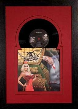 45 Vinyl Record and Sleeve Frame Featuring Red Mat Design, S
