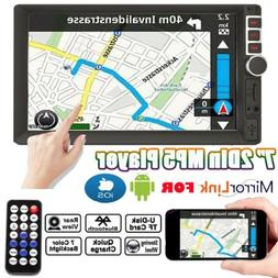 """7"""" DOUBLE 2DIN Car MP5 Player Stereo Audio Radio Bluetooth T"""