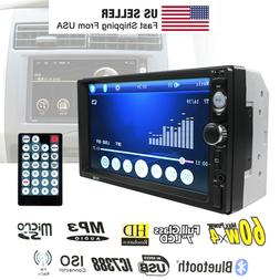 """7"""" Double Car MP5 Player 2DIN Bluetooth Touch Screen Stereo"""