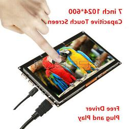7 inch 1024*600 Capacitive Touch Screen HDMI TFT LCD Display