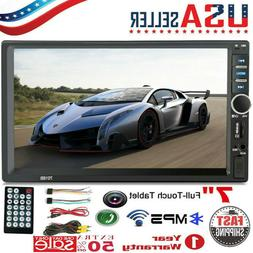 7 Inch 1080P DOUBLE 2 DIN Car MP5 Player BT Touch Screen Ste