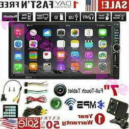 """7"""" inch 1080P DOUBLE 2DIN Car MP5 Player BT Touch Screen Ste"""