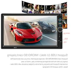 7'' Inch 1080P DOUBLE 2DIN Car MP5 Player Bluetooth Touch
