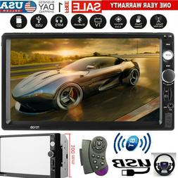 "7"" Inch 1080P DOUBLE 2DIN Car MP5 Player Bluetooth Touch Scr"