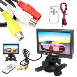 "7"" inch 12V TFT LCD Screen Monitor 2 Video Input For Car Rea"