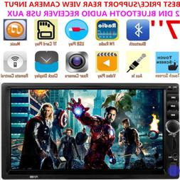 7'' Inch 2 Din Car Stereo Radio Touch Screen Bluetooth Audio