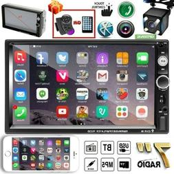 """7"""" inch 2DIN Car Stereo Radio HD MP5 Player Touch Screen Blu"""