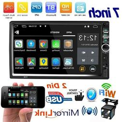 "7"" Inch 2din Car Stereo Radio Touch Screen MP5 Player Blueto"