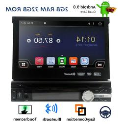 "7"" inch Android 7.1 Flip Out Car DVD Stereo Radio 1DIN Head"