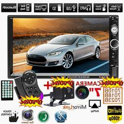 "7"" inch Car Stereo Radio MP5 FM Player HD Double 2DIN BT AUX"