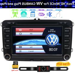 7 Inch Car Video DVD CD Player GPS Radio Stereo For VW Jetta