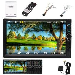 "7"" inch Double 2 DIN Car MP5 Player Bluetooth Touch Screen S"