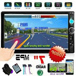 "7"" inch Double 2DIN Car MP5 Player Bluetooth Touch Screen St"