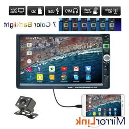7 Inch Double 2 DIN Car Radio Bluetooth MP5 Player Touch USB