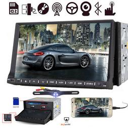 7 Inch Double 2 DIN Stereo Car Detachable CD DVD Player GPS