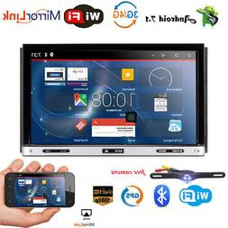 7'' Inch Double 2DIN Android 7.1 Stereo Car DVD Player GPS N