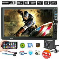 """7"""" Inch DOUBLE 2DIN Car MP5 Player Bluetooth Touch Screen St"""