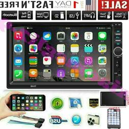 7 Inch Double 7018B 2 DIN Car FM Stereo Radio MP5 Player Tou