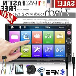 7 Inch Double 7023B 2 DIN Car Stereo FM Radio MP5 Player Tou