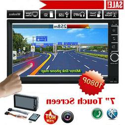"""7"""" Inch Double 7023B 2 DIN Car FM Stereo Radio MP5 Player To"""