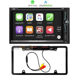 7 Inch Double DIN Apple CarPlay In-Dash Car Stereo Receiver