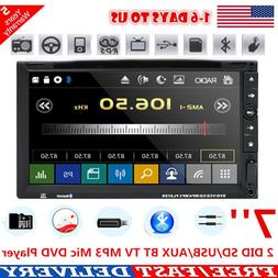 7'' Inch Dual 2 Din Car Stereo Radio DVD Player DVD SD USB A