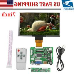 7 inch For Raspberry Pi 3 LCD TFT Display HDMI VGA Monitor S