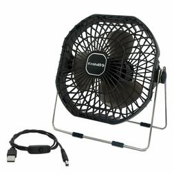 7-Inch Mini USB Desk Fan with Low Noise and Strong Airflow