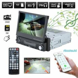 7 INCH Single 1 Din Car Dash Stereo DVD Player Radio Bluetoo