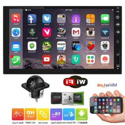 """7"""" Smart Android 8.1 AUX WiFi Double DIN Car Radio Stereo Pl"""