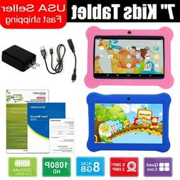 """7"""" Kids Tablet Android Dual Camera WiFi Education Game Gift"""