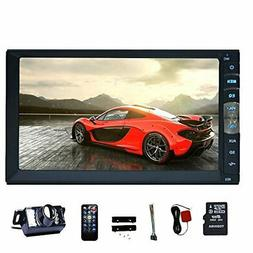 EINCAR 7'' Touch Screen Double Din Car Stereo MP5 Player in
