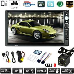 7inch Double 2 DIN Car MP5 Player Bluetooth Touch Screen Ste