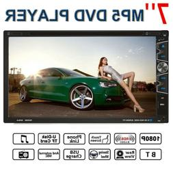 7inch double 2din car stereo dvd cd