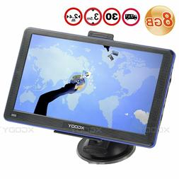 XGODY 8GB 7 inch Car FM Free Lifetime Map Upgrade Sat nav Tr