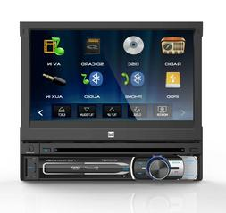 """Dual Multimedia 7"""" Digital LCD DVD Receiver with Bluetooth"""