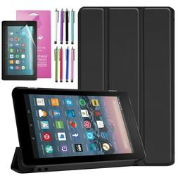 """For All-New Amazon Fire 7 2019 7"""" inch Tablet Flip Thin Leat"""