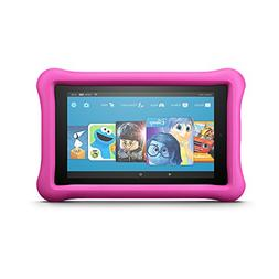 all new fire kids edition tablet display pink kid proof case