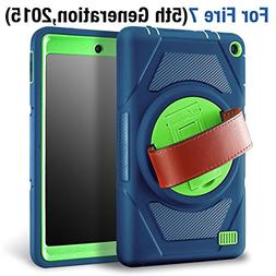 eSamcore Amazon Fire 7 Inch Tablet Case , Full Body Protecti