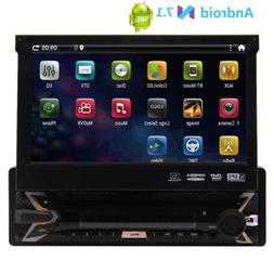 """Android 7.1 1DIN 4Core Unit Flip Out 7"""" inch Car DVD Player"""