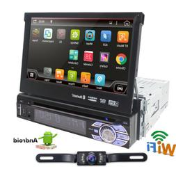 """Android 6.0 1DIN 4Core Unit Flip Out 7"""" inch Car DVD Player"""
