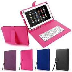 """for Android 7"""" - 8"""" inch Tablet Universal Leather Case Cover"""