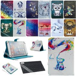 """For Android 7"""" inch Tablet Universal Leather Case Cover with"""