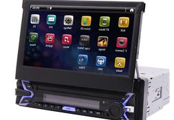 Android 9.0 Pie Single Din Car Stereo 7 Inch Flip Out Capaci